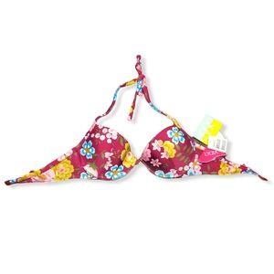 Agua Doce NWT Floral Bikini Top Medium